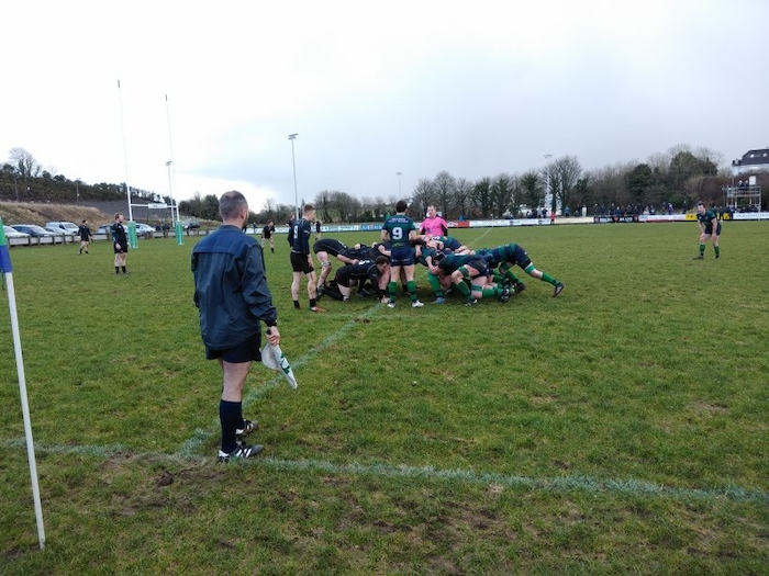Ballina scrum down against Connemara last weekend. Photo: Ballina RFC