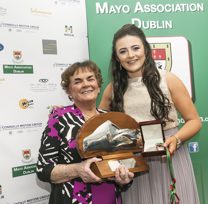 Winning ladies: At the Yew Tree Ball were Sr. Maureen Lally (Mayo Person of The Year) and Michaela Walsh (Mayo Young Person of The Year). Photo: Paul Sherwood.
