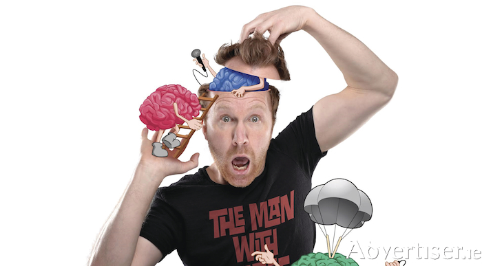 Jason Byrne and his three brains.