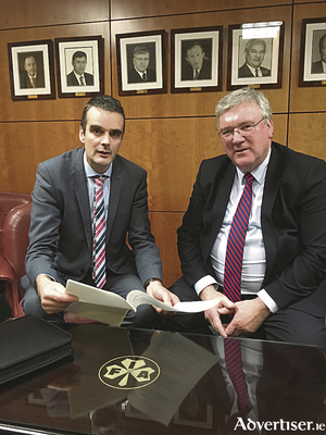 Supermac's MD, Pat McDonagh pictured with IFA President, Joe Healy.