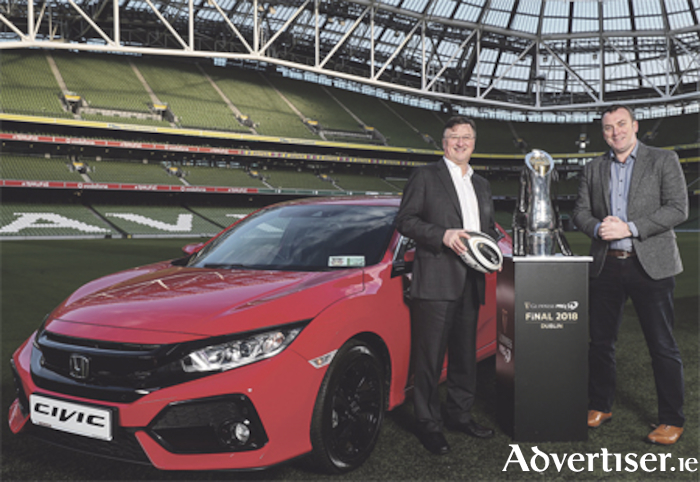 Honda Ireland has become the official car partner of this season's Guinness PRO14 Final Series. Pictured (L-R) with the
