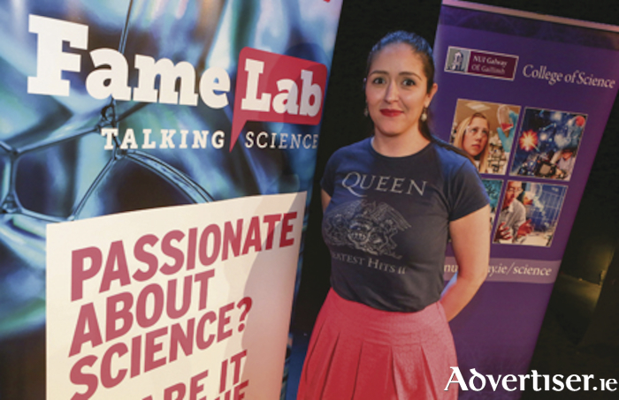 Dr Ana Panigasi, winner of FAMELAB Galway regional heat 2017. Photo: Aengus McMahon