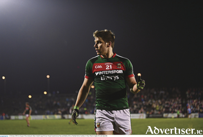 Thumbs up: Lee Keegan was back in action for Mayo last weekend. Photo: Sportsfile.