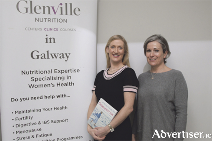 Pictured at the Glenville Nutrition Osteoporosis Workshop are Sorcha Molloy, registered nutritionist, and Ruth Molloy, charted physiotherapist