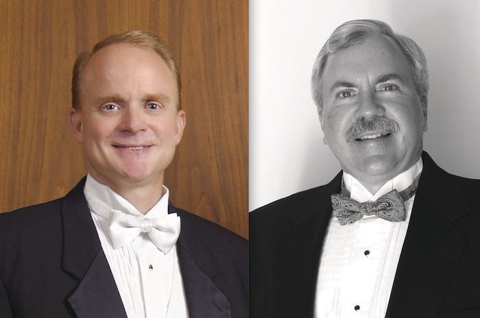Conductors Richard Mark Heidel and Kevin Kastens will conduct the Iowa University Concert Band will be in concert on March 13 at GMIT Mayo.