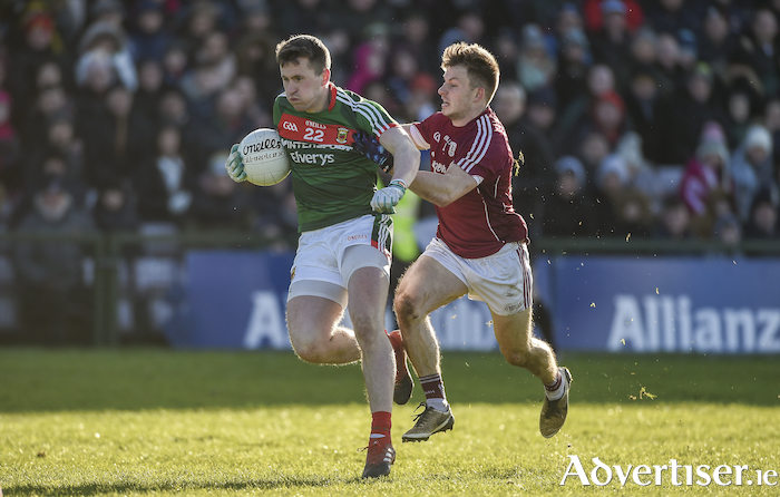 Back in the fold: Mayo will be hoping that Cillian O'Connor's return from suspension will help in their quest for points on Sunday. Photo: Sportsfile.