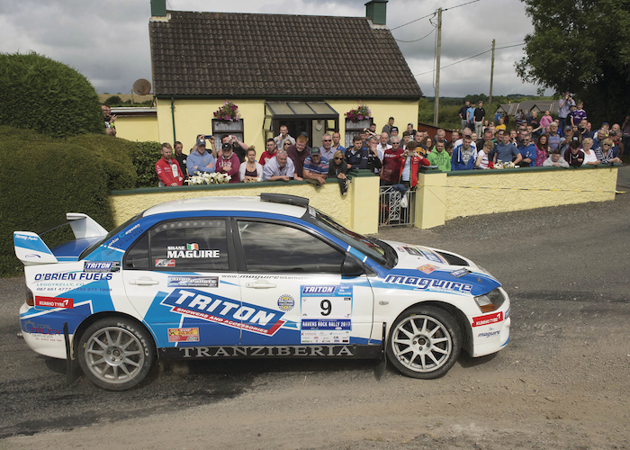Monaghan's Shane Maguire  is the reigning Group N Triton Showers National Rally champion and he will contest the Óstán Oileán Acla/Connacht Print and Signs Mayo Rally.  Photo: Martin Walsh.