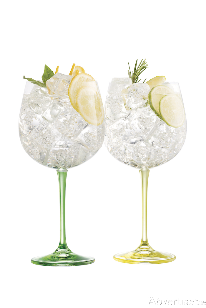 Enjoy your St Patrick's weekend with the new Lemon and Lime gin & tonic glasses from Galway Irish Crystal, retailing at €19.95 a pair available at Galway Crystal Factory shop, Merlin Park, Dublin Road, Galway. 