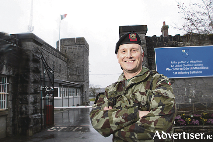 Lt Col Caimin Keogh, Commanding Office, 1st Infantry Battalion, Dún Uí Mhaoiliosa, Renmore. Photo:-Mike Shaughnessy