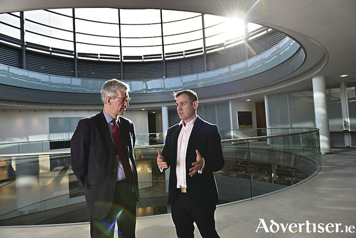Sean Barton, partner, head of dispute resolution and litigation at McCann FitzGerald with Enda Leahy CEO of Courtsdesk. Pic. Bryan Meade