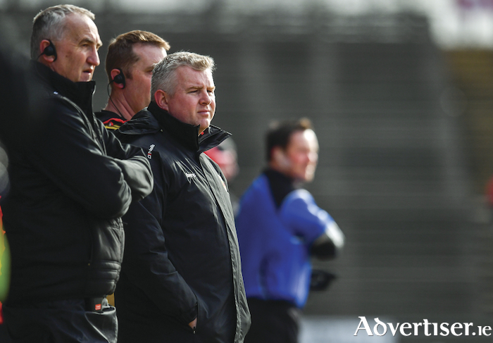 Looking for win: Mayo's management team will be looking to come up with a winning plan for Sunday. Photo: Sportsfile.