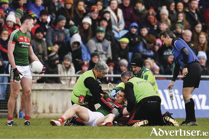 Big concern: Lee Keegan's injury is major blow to Mayo and will be a big concern going into the championship. Photo: Sportsfile.