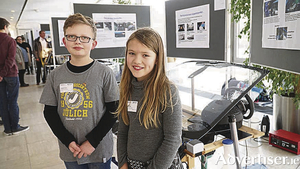 Daniel and Lara Krohn with their prize-winning water-saving system.