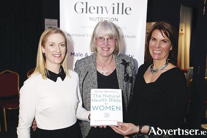 Women's health nutritionists, Sorcha Molloy, Dr Marilyn Glenville and Heather Leeson, speaking recently in the g Hotel, Galway