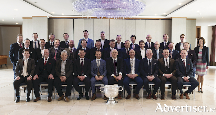 The Galway team of '98 was honoured at a 20-year celebration held at the Galmont Hotel and Spa in the city last Friday. Photo: Andrew Downes/XPOSURE