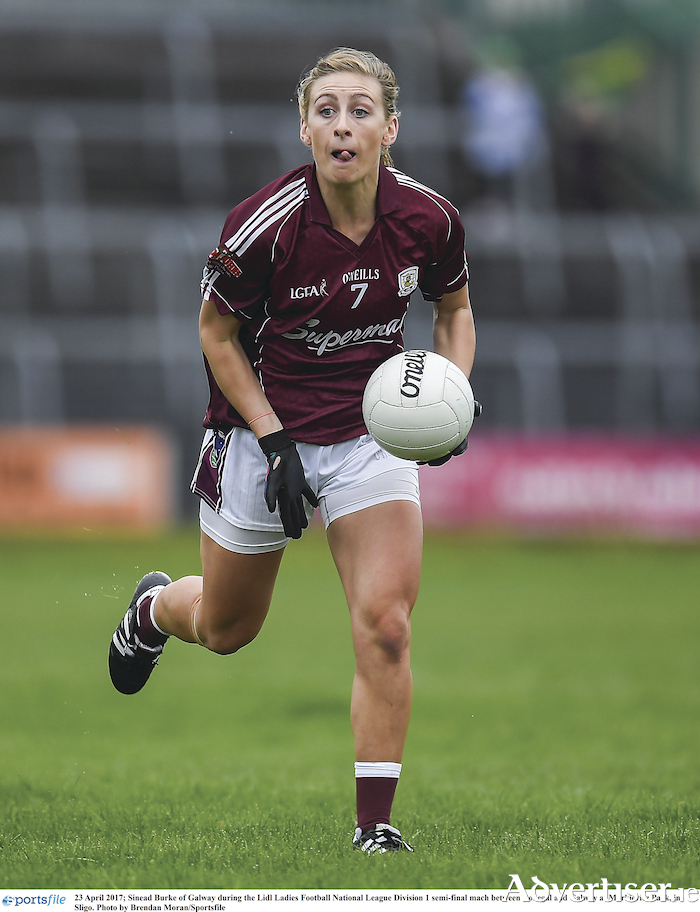 Galway's experienced campaigner Sinead Burke will be a key player in Galway's hopes of overcoming champions Dublin to advance to the division 1 semi-final.