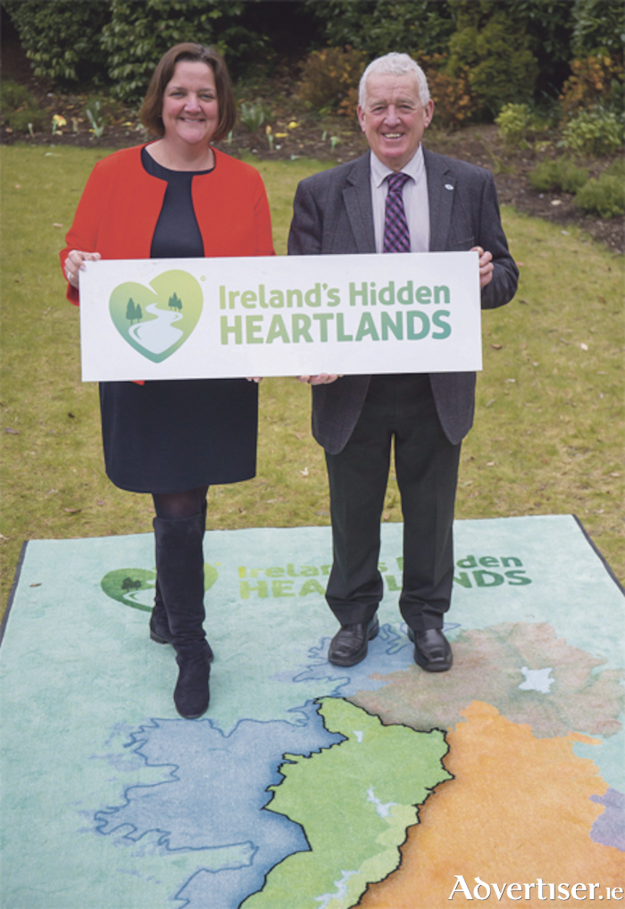 Senator Gabrielle McFadden with Cllr Tom Farrell at the launch of the 'Ireland's Hidden Heartlands' brand. Photo: Pat Moore