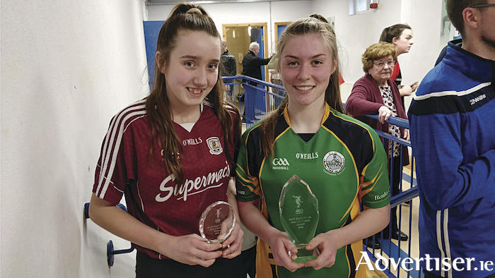 National handball winners: Abbeyknockmoy's Emma Kinane and Niamh Heffernan of Claregalway.