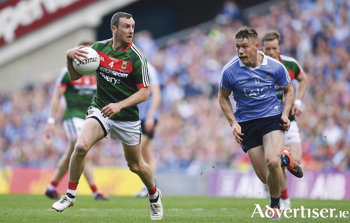 Great to see him back: The return of Keith Higgins to the Mayo football set-up is a great boost ahead of Mayo's meeting with Galway. Photo: Sportsfile