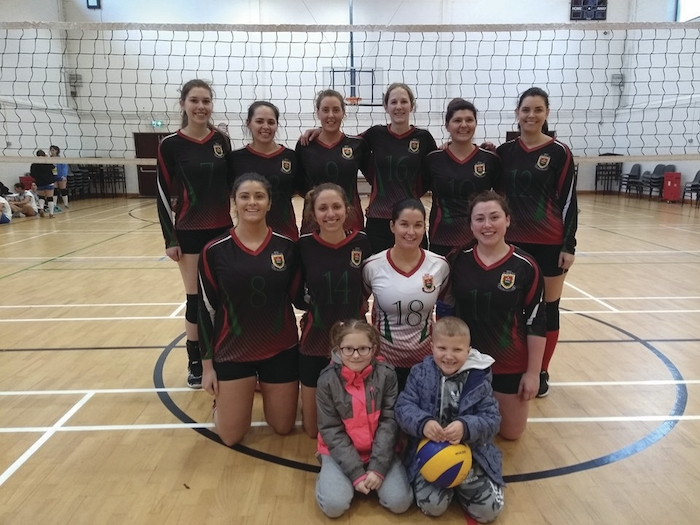 The Mayo volleyball team who took on two of Dublin's finest last weekend.  Back row: Alex Fleming, Cailín Meehan, Edel Nolan, Mikal O'Boyle, Paulina Balik Nowak, Eimear McNeive. Front row: Louise Day, Adriana Slovakova, Orla Casby, Jackie Prendergast.
