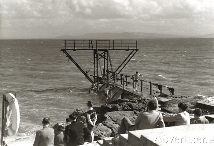 Blackrock diving tower - when it was of a far more basic construction.