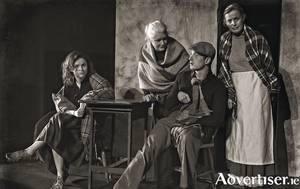 The cast of Bualadh Bos's production of The Cripple of Inishmaan.