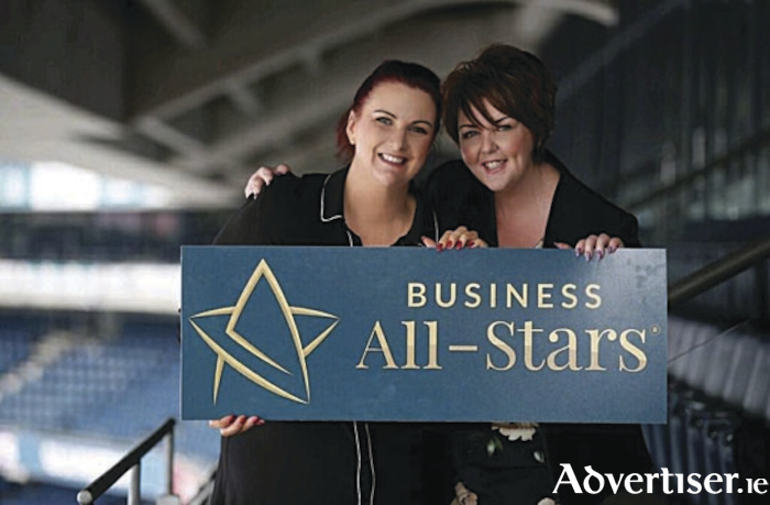 Pictured at the event were Siobhan Carroll and Dawn McGoldrick, ACT for Meningitis, which was accredited with All-Star Support and Awareness Charity status 2018-19.