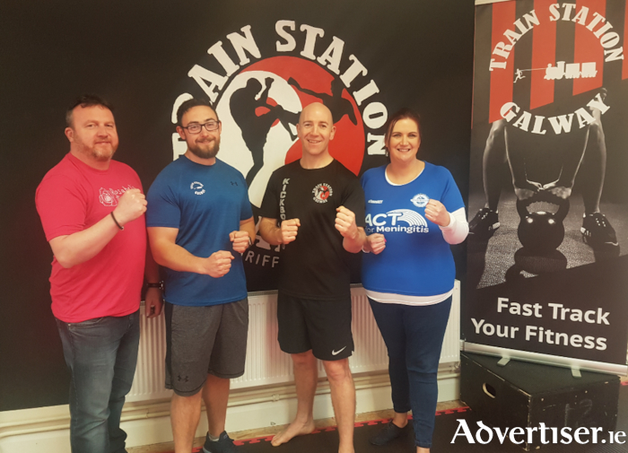 Gary Monroe (Rosabels Rooms), Ronan Kennedy (Train Station Gym), Pat Griffin (Train Station Kick-Boxing Club) & Siobhan Holohan (ACT for Meningitis)