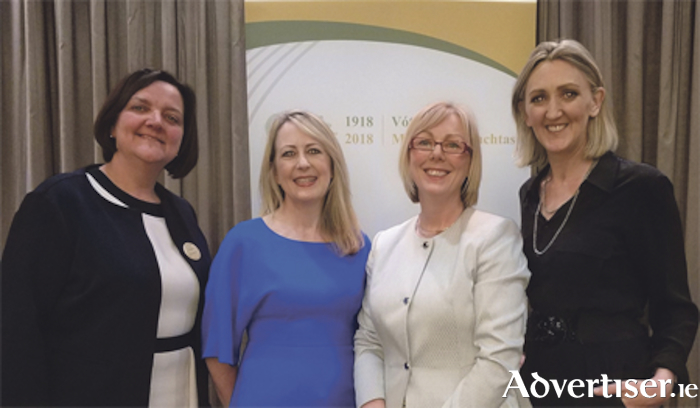 Senator Gabrielle McFadden, Government Chief Whip, Seanad Éireann, Sarita Johnson, manager of Female Entrepreneurship at Enterprise Ireland, Regina Doherty, Minister for Employment and Social Protection, and Joan Mulvihill, centre director for the Irish Centre for Cloud Computing and Commerce in DCU