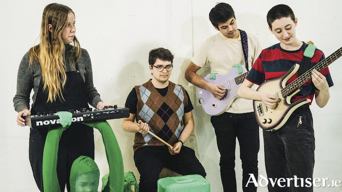 Frankie Cosmos (left) and her band. Photo:- Loroto Productions