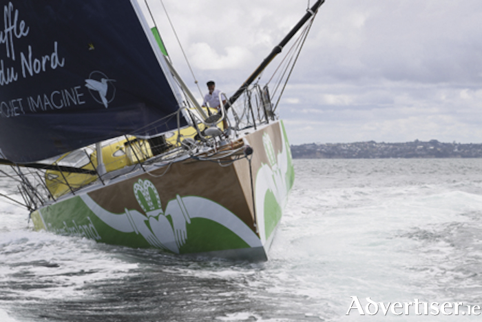 Galway's Enda O'Coineen completes his solo circumnavigation of the globe sixteen months after starting.