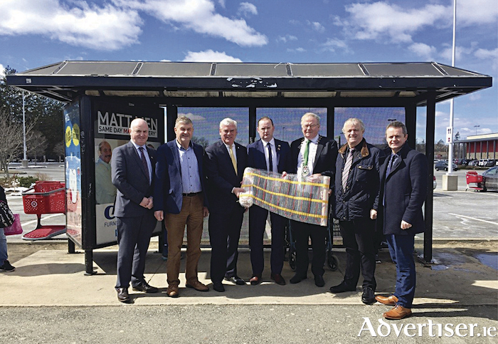 Pictured at the Ezewarm announcement in Warwick were: Peter Hynes, (chief executive, Mayo County Council), Cllr Michael Holmes, Mayor Scott Avedesian, Brian Hopkins (Ezewarm), Cllr Richard Finn (Cathaoirleach Mayo County Council), Cllr Gerry Coyle; John Magee (head of enterprise, Mayo County Council)