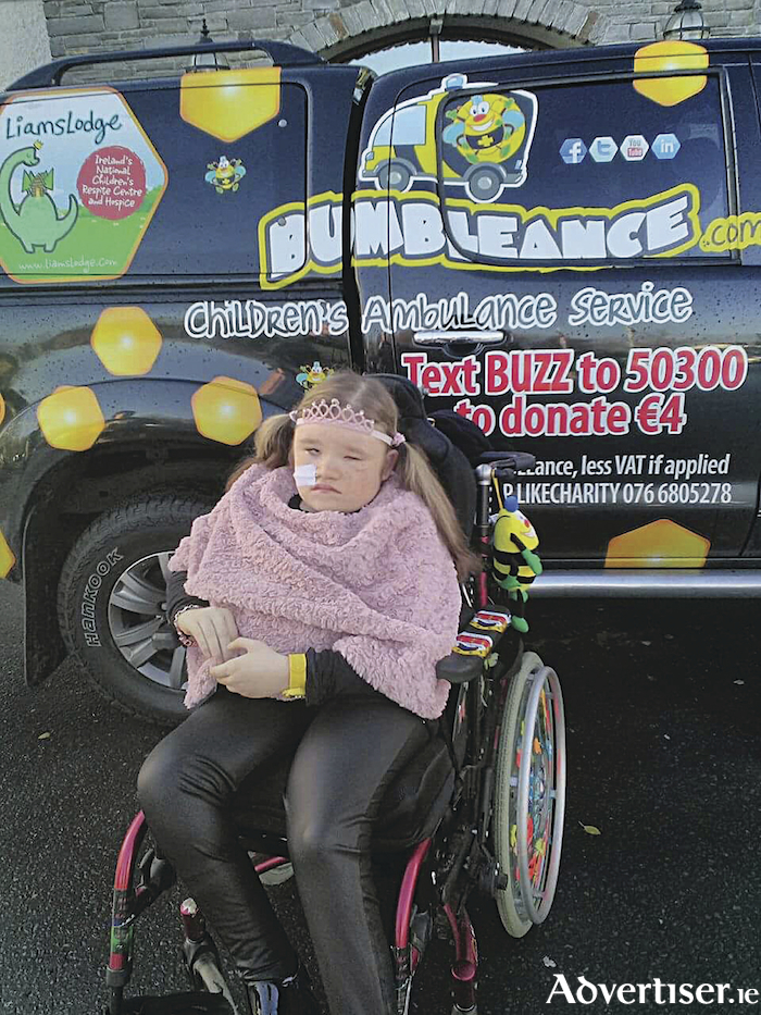 Amiee O'Loughlin from Ballina is a regular Bumbleance user and relies totally on this vital service for her multiple trips to Dublin.