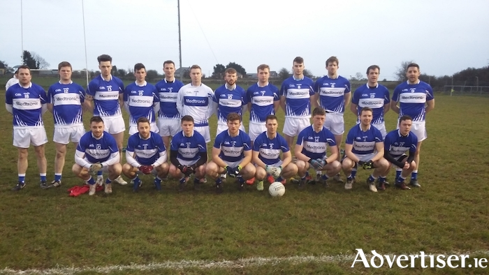 The Medtronic team which was defeated by Suir Engineering in the All Ireland Interfirms Senior Football Final. Back Row (L-R): Damien McHugh, Benny McLoughlin, Colm O'Donovan, Dylan Canney, Karl Dooher, Keith Murphy, Martin Coady, Oisin Mannion, Enda Tierney, David Walsh, Michael McNamara, David Hogan. Front Row (L-R): Enda Mullarkey, Michael Lundy, Enda Fleming, Adrian Ward, Barry O'Donovan, Cathal Newell, Ger Cafferty, Ger McWalter.