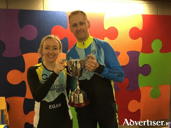Ann Marie Meaney and John Leneghan the female and male club champions from 2017.