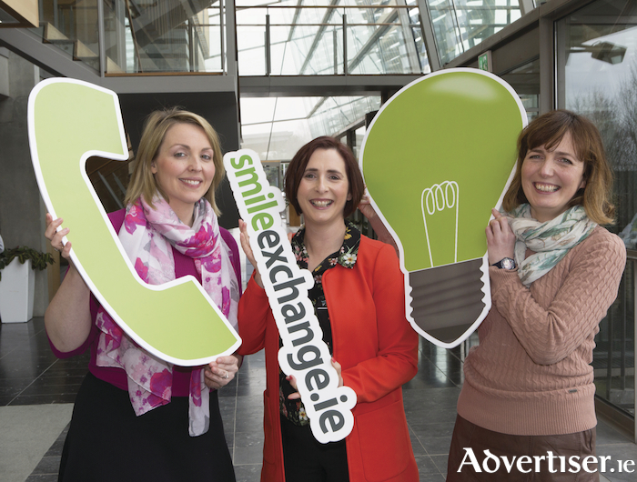 Michelle Green (project manager, Smile Resource Exchange), Katherine Corkery (project co-ordinator, Smile Resource Exchange), and Anne Murphy (circular economy executive, Ibec). Photographs Liam Burke Press 22.