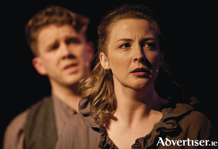 Anne O'Donnell as Emily Tallentire, and Alan Greaney as Jackson Pennington, in Galway Musical Society's production of The Hired Man.