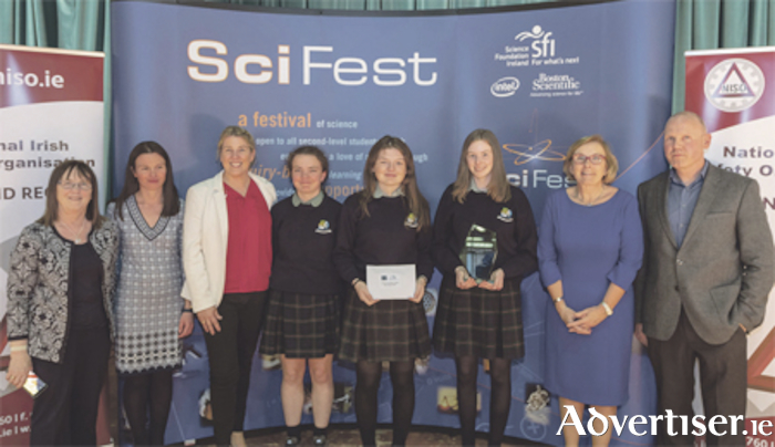 Sheil Porter, CEO and founder of Sci Fest; Dr Anne Mulvihill, AIT; Jackie O'Dowd, Science Foundation Ireland; Laoise O'Brien; Rebecca Campion; Juliette McGrane; Dr Noreen Morris, AIT; and Dr Don Faller, dean of faculty of science and health. Photo: N Cafolla