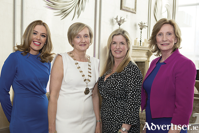 Pictured at the launch of the Network Galway Business Woman of the Year Awards 2018 were Gemma Ni Chionnaith; Adrienne Turley, President Network Galway;  artist Rachel Dubber; and Liz Cassidy, Irish Time Design.