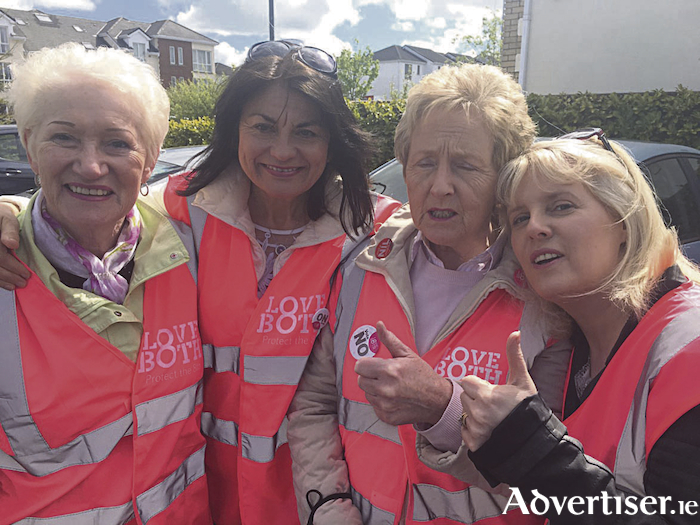 Fidelma Healy Eames and friends campaigning for a No vote in Doughiska.