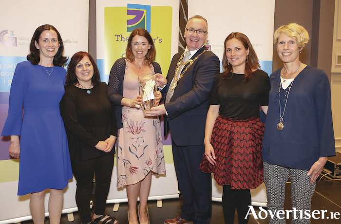 The CARI Volunteer Forensic Accompaniment Service team receiving their Volunteer of the Year Award from Mayor Flannery.  Pic: Aengus McMahon