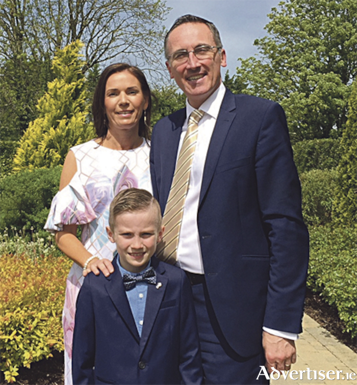 Scott O'Rourke with mum Lisa and dad Aengus, Mayor of Athlone, making his First Holy Communion last weekend