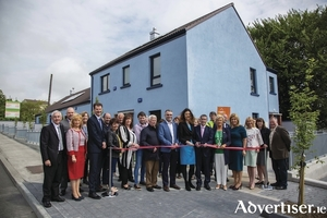 Minister for Housing and Urban Development, Damien English, T.D. officially opened a new Housing Development at Marian Crescent, Killala Road, Ballina last week.