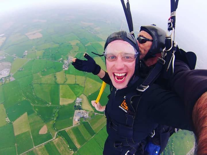 Stephen Roche from Belcarra raised €7,750 in a charity skydive for the Irish Kidney Association (IKA) last weekend.