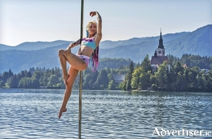 Racheal Palmer (aka Chrome Doll) photographed at Lake Bled, Slovenia, by Igor Kosovel