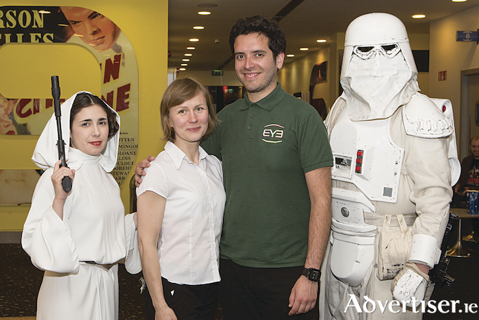 Anna Wojcik and Josue Caceres pictured at the Eye Cinema exclusive midnight screening of 'Solo: A Star Wars Story' with the Emerald Garrison's Star Wars characters. Photo Martina Regan
