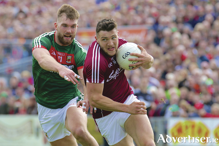 Galway team captain Damien Comer will be a key figure in leading by example when they take on Sligo in Pearse Stadium on Sunday.  Photo:- Mike Shaughnessy