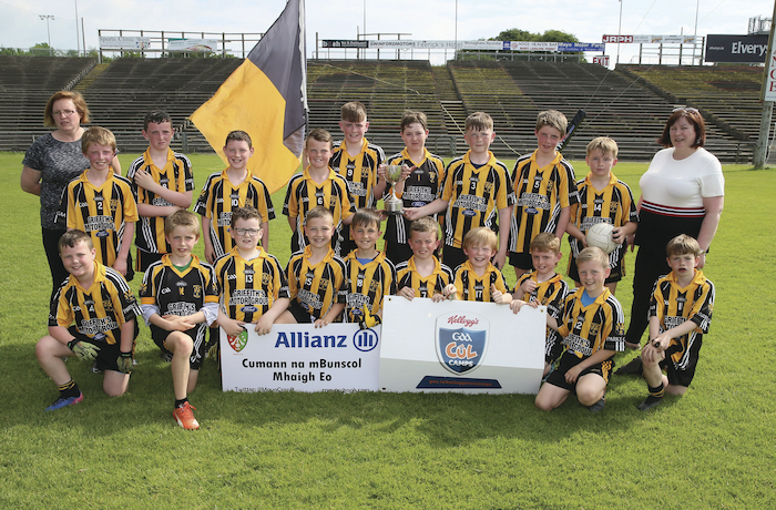 Stars of the future: The Parke NS team who claimed the division three crown at the  Cumann na mBunscol finals in MacHale Park. Photo: Michael Donnelly