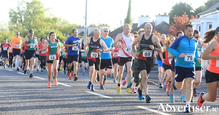 And they're off: The starting line of the Mayo AC summer series in Swinford.