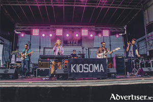 Kiosoma band members Tadgh Kelleher, Colm Noonan, Paul Shanagher, Orla McBarron and Daniel Noonan